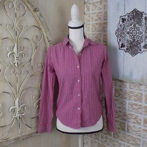 American Eagle pinned striped button down top